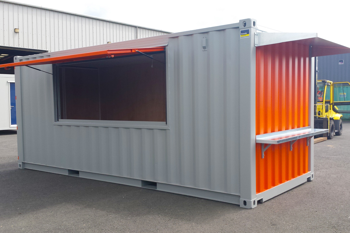 Shipping Containers at Donnelly Cabins - Northern Ireland