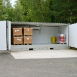 Shipping Container Open