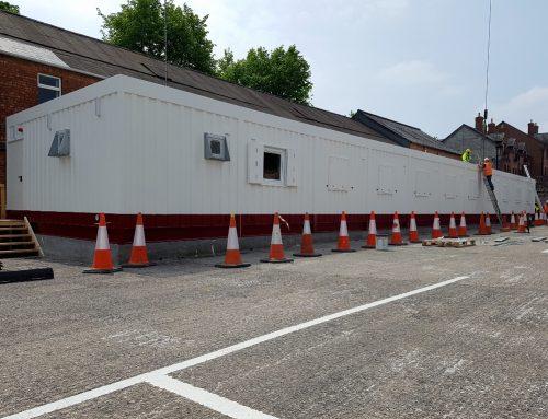 AV Modular Office Delivered to Belfast