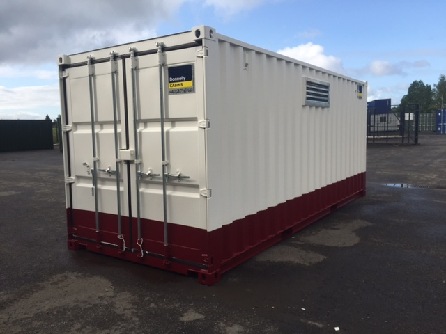 20 Foot Tunnel container with bund and Ventilation for London City Airport